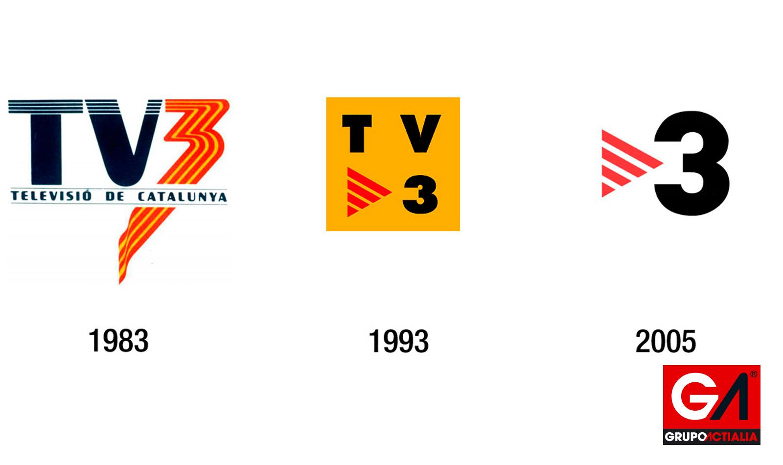 Evolución Logotipo TV3